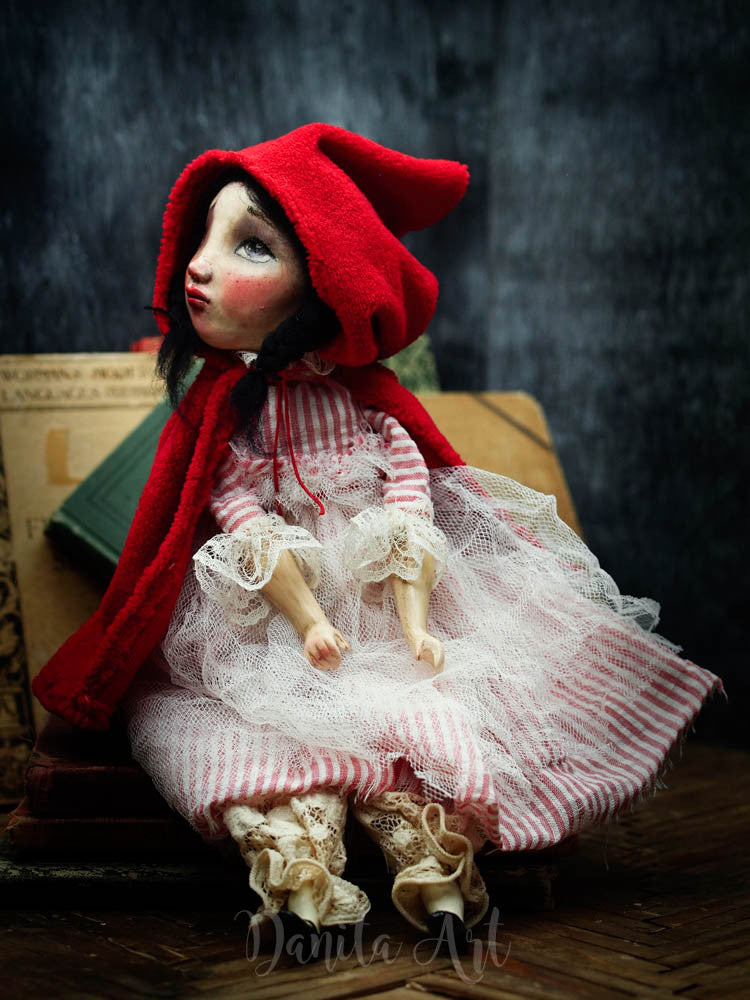 Little red riding hood, Art Doll by Danita Art