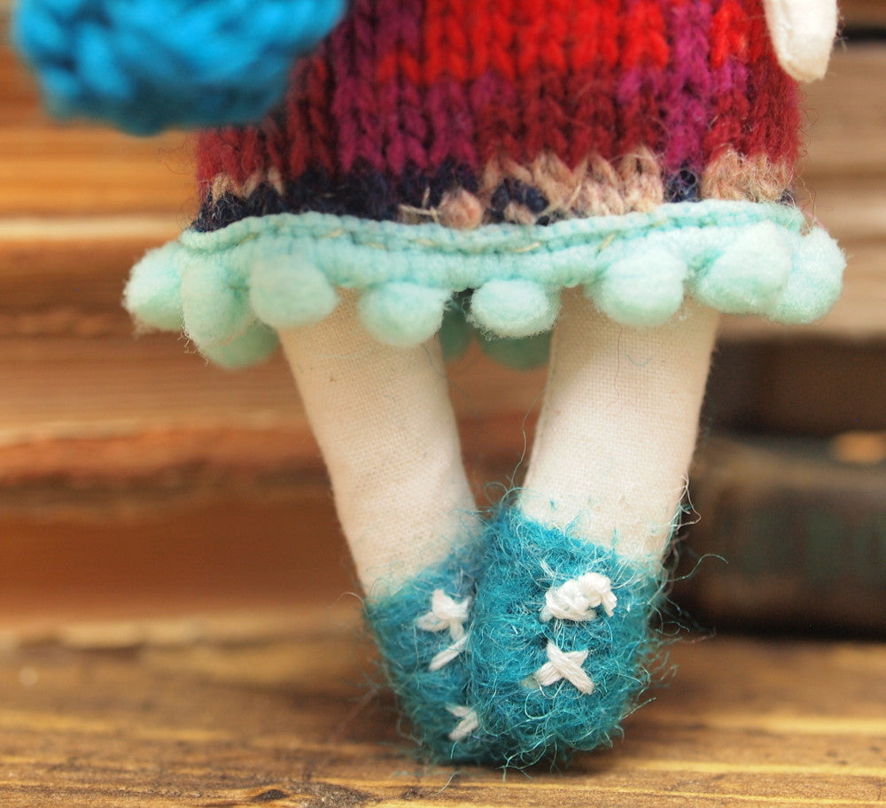Sarah - Handmade soft doll, Miniature Dolls by Danita Art