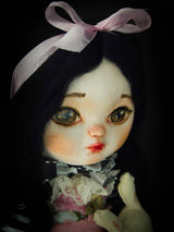 Alice in wonderland, in a unique and artful interpretation on this amazing handmade Art Doll by Danita Art