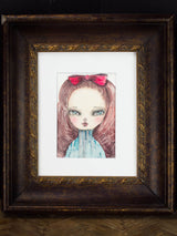 Watercolors and experimentation make fresh and beautiful additions to Danita's growing collection of original paintings, with beautiful surreal eyes and faces.