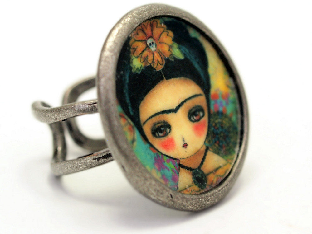 Frida and the sugar skulls, Jewelry by Danita Art