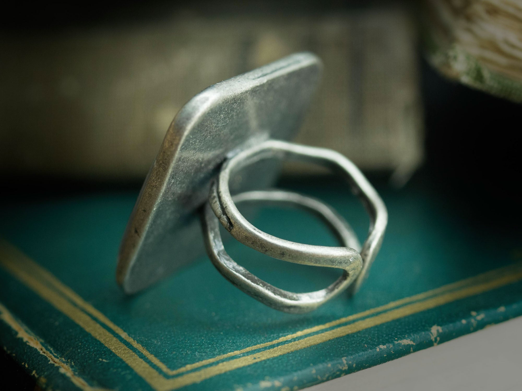 The discovery square ring, Jewelry by Danita Art