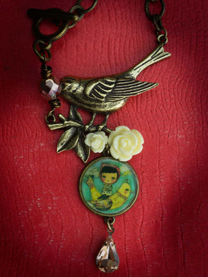 Danita original handmade jewelry is hand made with love and beautiful mixed media paintings