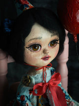 Danita made an art doll with beautiful brown glass eyes using the techniques taught on onlines classes