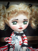 Danita's beautiful green eyed doll is a homage to the vintage anime series Kyandy Kyandy