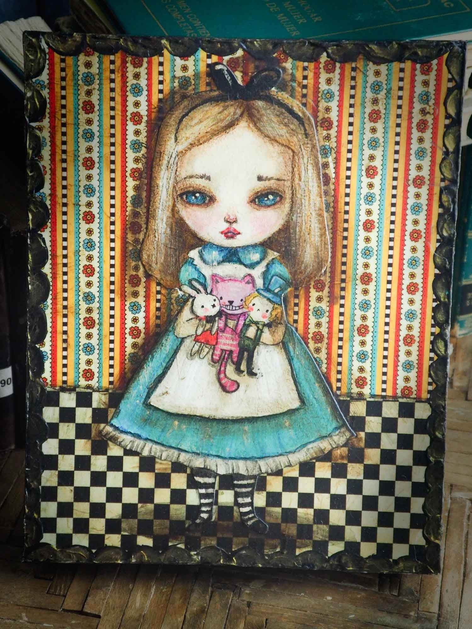 Alice and friends, Original Art by Danita Art