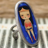 Danita ring Wonder Woman Jewelry Accessory Comic super Hero Handmade Original