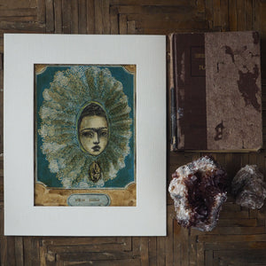 Frida Tehuana, Original Art by Danita Art