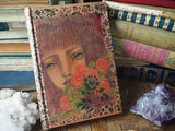 Danita altered mixed media book upcycled vintage color pencil drawing