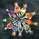 Alice in wonderland paper art doll by Danita. A beautiful watercolor painting turned into a jointed doll.