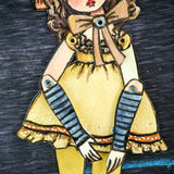 A watercolor ballerina by Danita Art. An original painting converted into a posable paper doll.