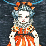 Jointed paper dress art doll by Danita. An original watercolor painting that becomes a paper doll.