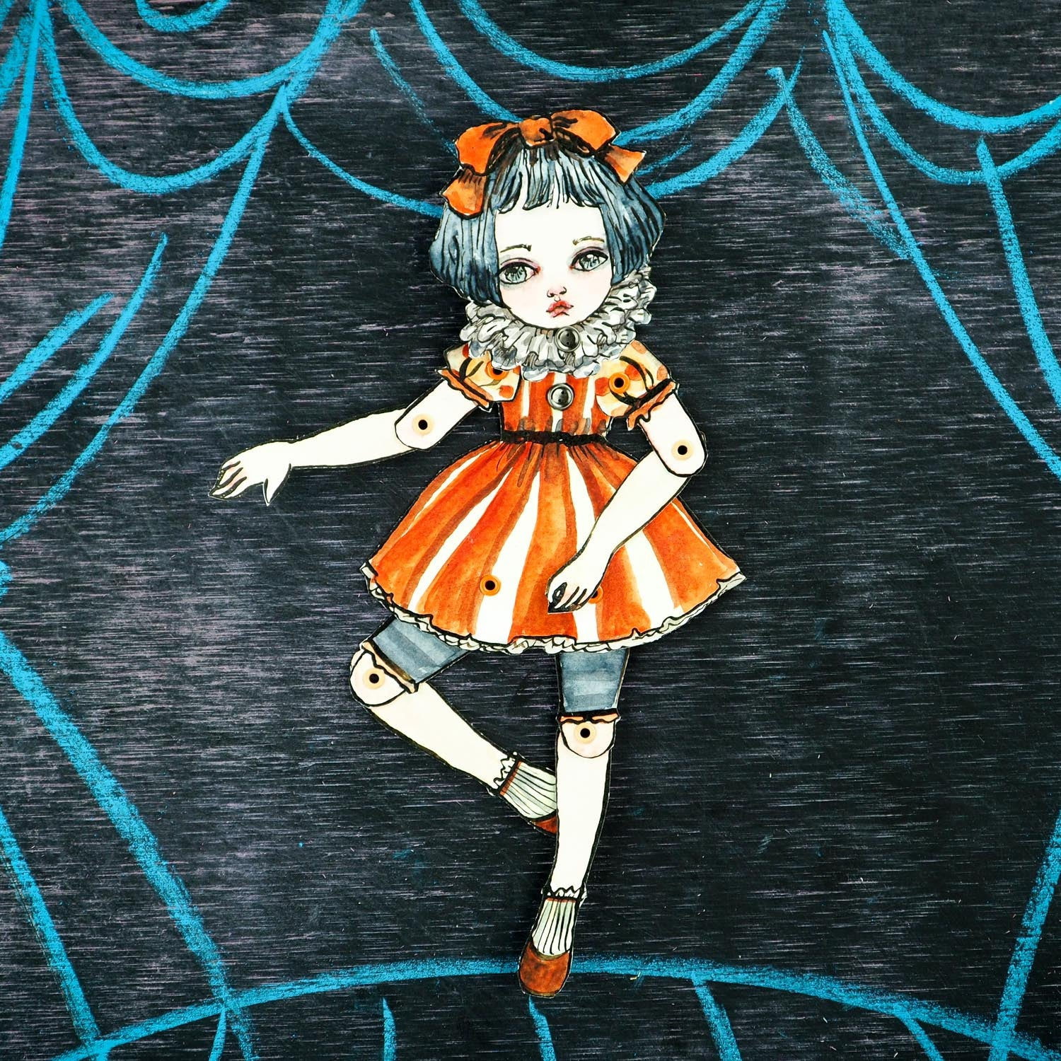 AN ORANGE BALLERINA, Art Doll by Danita Art