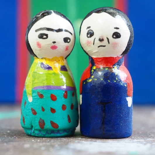 The most adorable art dolls are created by Danita. Take a look at this micro art dolls, hand painted micro kokeshi art dolls on a wooden peg. Kawaii art for your small spaces!