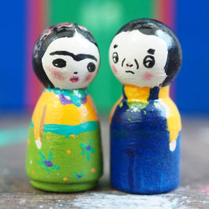 FRIDA AND DIEGO, Miniature Dolls by Danita Art