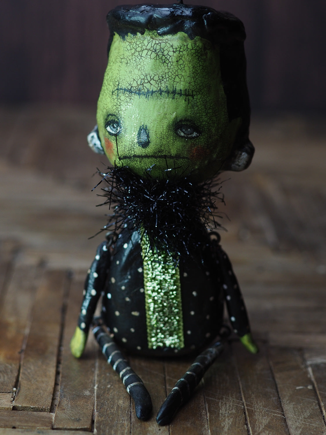 FRANKENSTEIN'S MONSTER. Original Halloween art doll by Danita., Art Doll EXCLUDE-SALE by Danita Art