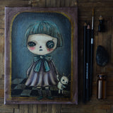 The Vooodoo girl: An original mixed media Halloween painting by Danita.