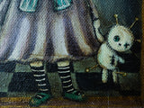 The Vooodoo girl: An original mixed media Halloween painting by Danita., Original Art by Danita Art