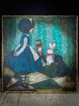 Danita imagined Alice and her toys and her room, where the wonderland story begins in the imagination of a beautiful girl. This is how a lot of my stories and paintings begin, even today.