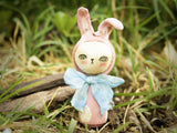 Spring has finally arrived to Danita Art, and to celebrate, I created a collection of miniature wood kokeshi art doll Easter bunny rabbits.