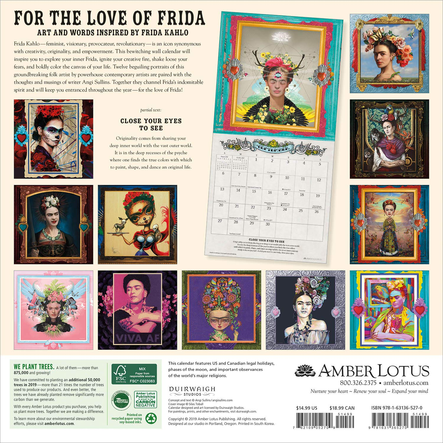 Danita Art is part of the roster of 12 amazing artists that were invited to participate on this 2020 calendar that celebrates Frida Kahlo as seen trough our eyes. Each artist has a very unique vision of Frida and we come together in a beautiful display of art for the upcoming 2020.
