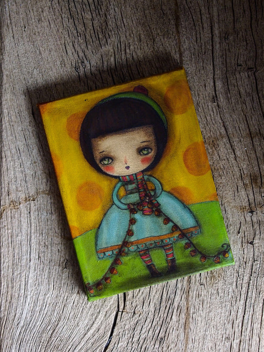Acorn girl, Original Art by Danita Art