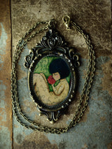 Sleeping beauty is waiting for the time when she will awake on this original handmade necklace by Danita Art