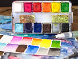 Prima marketing watercolor confections painting travel kit by Danita, Original Art by Danita Art