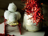 Frosty the snowman, a holiday wood kokeshi art doll created by Danita Art