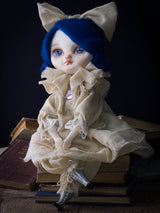Music inspired Danita to create an amazing handmade art doll using fabric and paper clay. Her beautiful baby blue eyes will make you fall in love with her.
