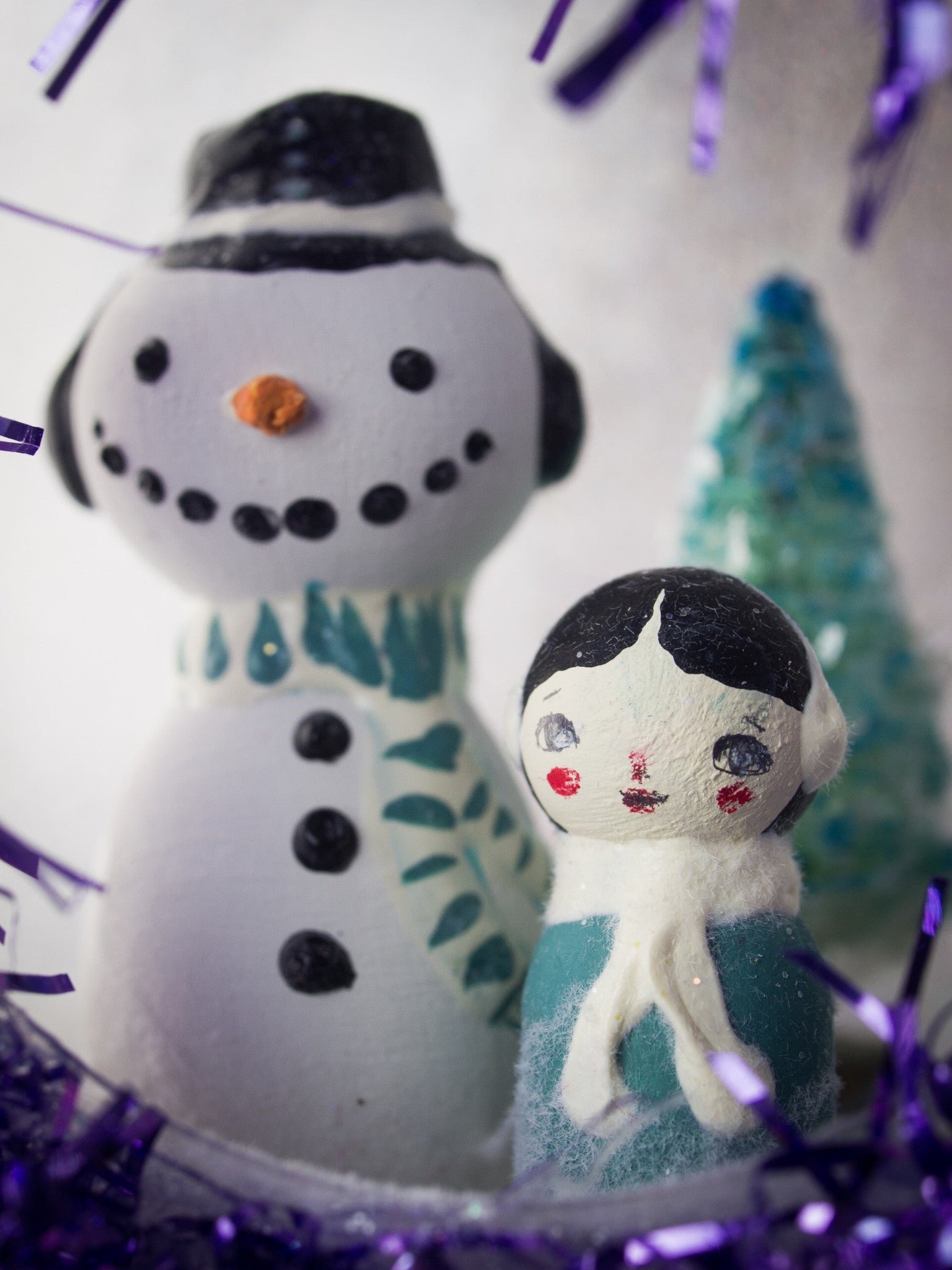 Frosty the snowman, Miniature Dolls by Danita Art