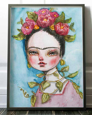 FRIDA IN NATURE, Art Prints by Danita Art