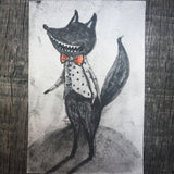 Werewolf Danita Drawlloween Illustration Watercolor Graphite Drawing Halloween Painting Illustration Art