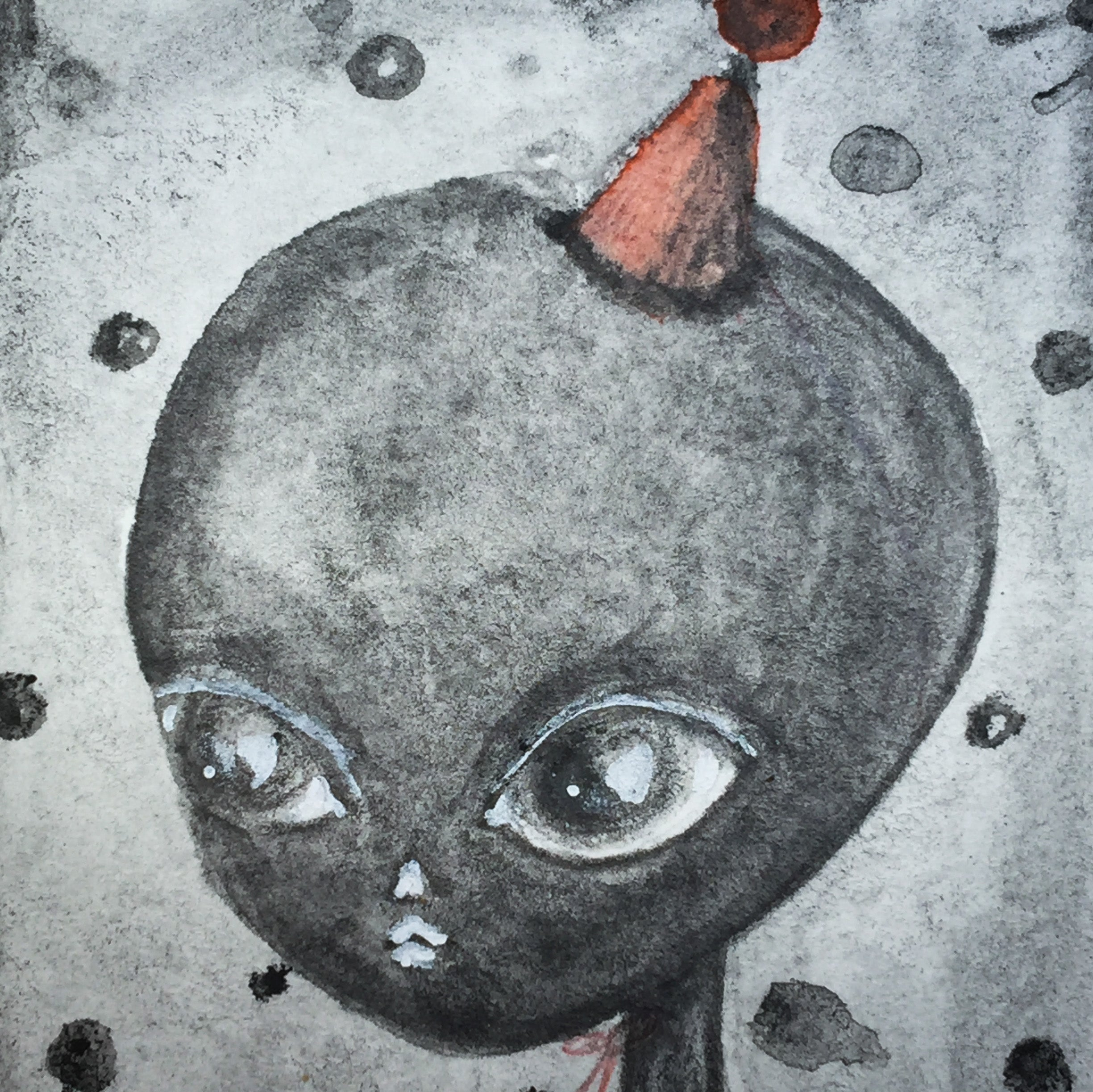 THE ALIEN, Original Art by Danita Art