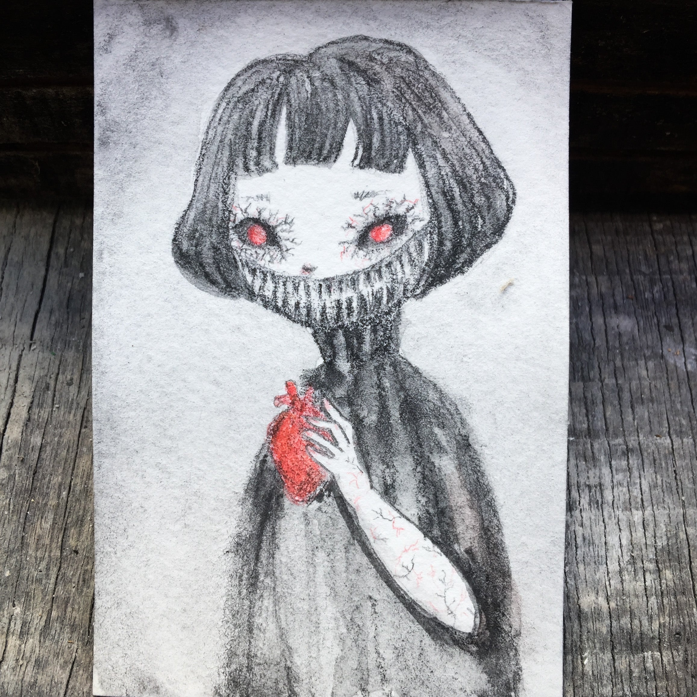 THE GHOUL, Original Art by Danita Art