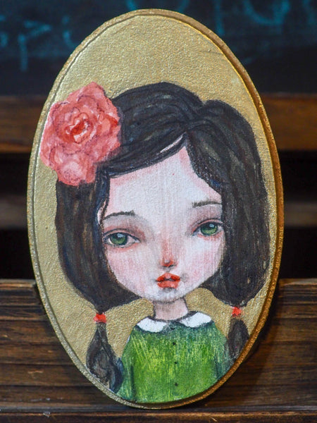 ROSITA - An original mixed media painting by Danita