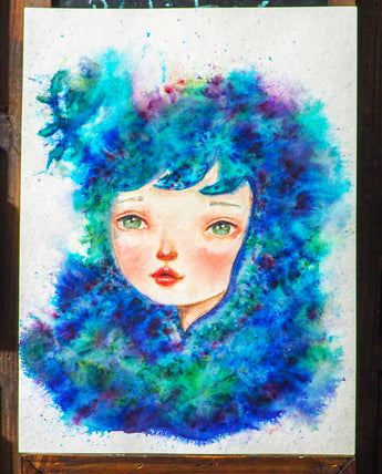ATHENA - an original watercolor painting by Danita Art
