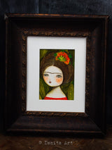Frida in the jungle, Original Art by Danita Art
