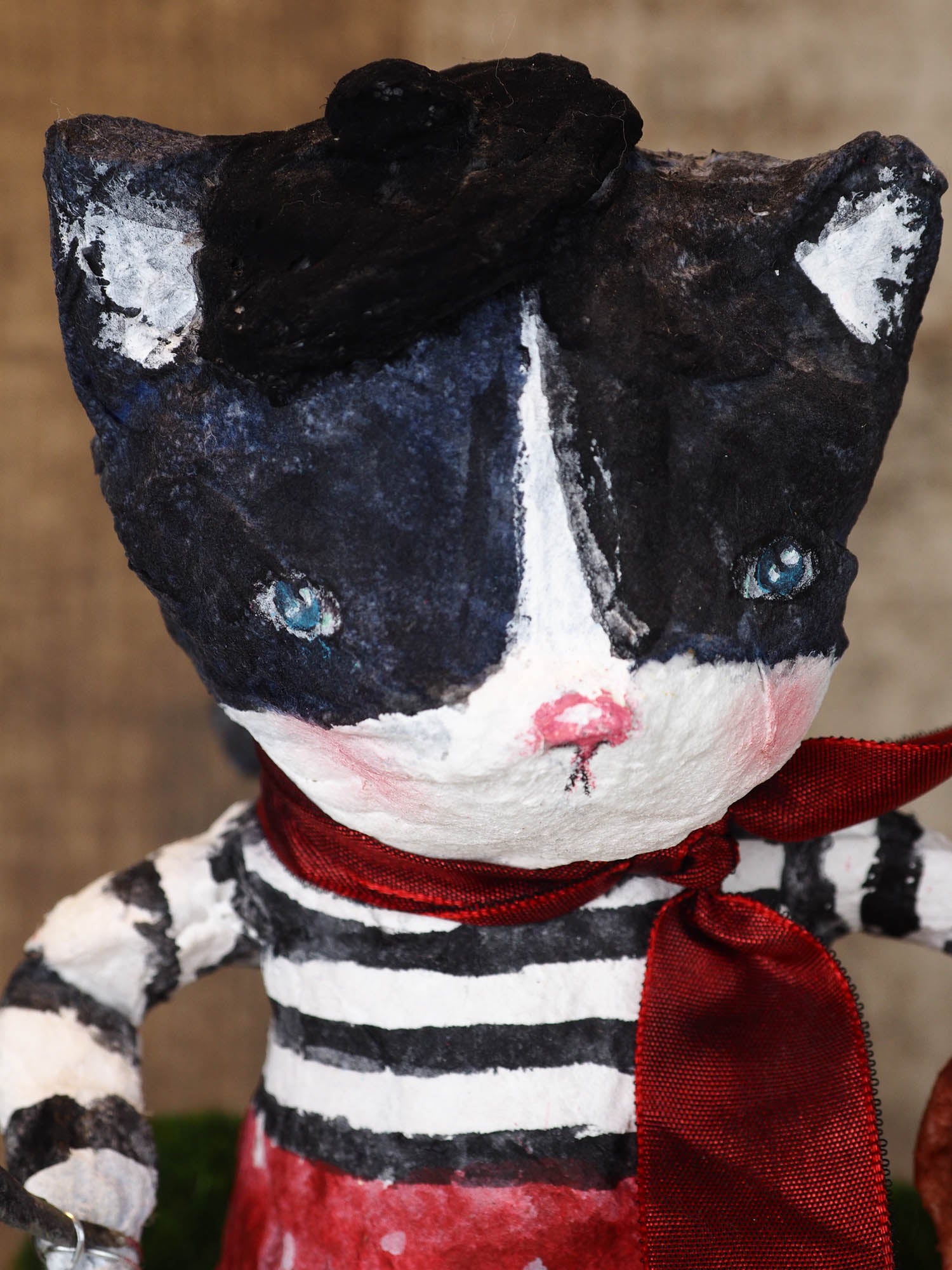 piCATsso - A lovely artist cat doll by Danita, Art Doll by Danita Art