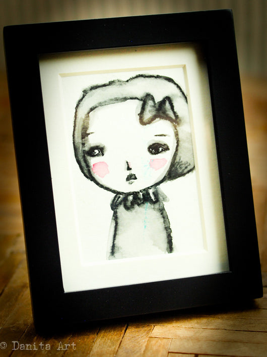Monochrome watercolor study #2 - Original ACEO watercolor painting