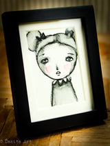 Monochrome watercolor study #4 - Original ACEO watercolor painting