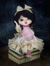 A big green eyes doll by Danita Art is a unique, OOAK fine art doll toy perfect to decorate any room with lots of love.