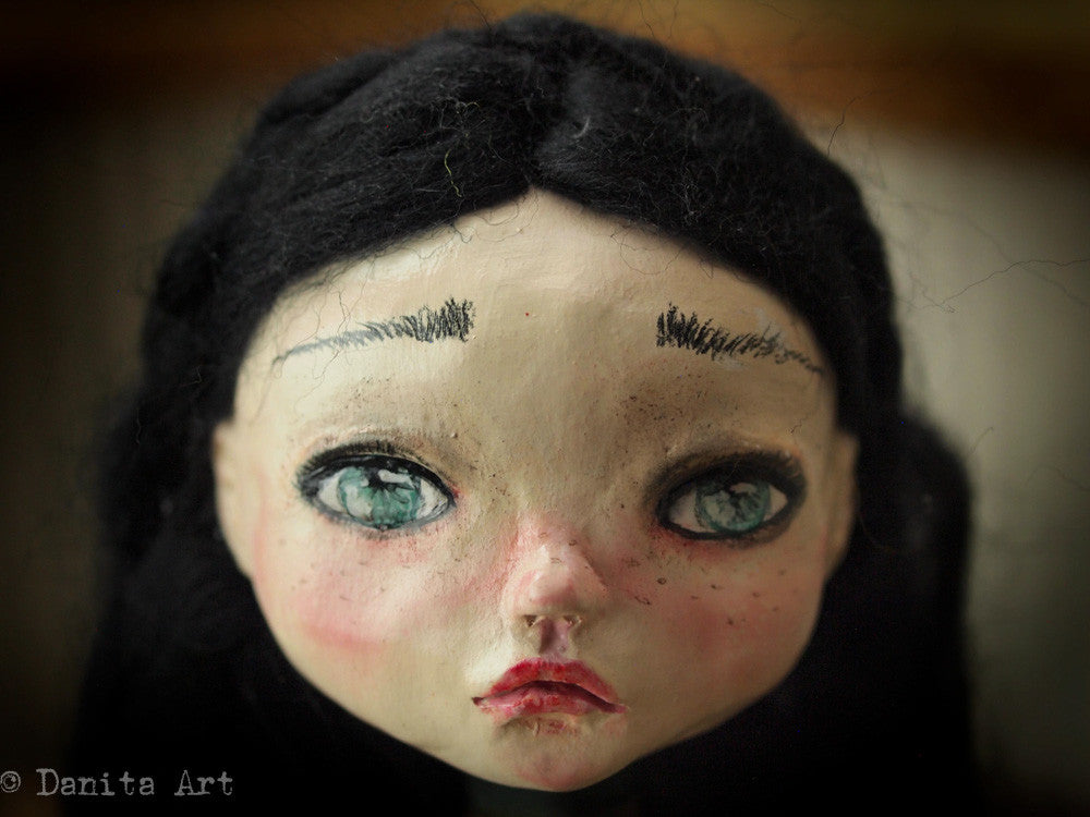 Agatha, Art Doll by Danita Art