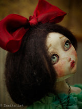 Belle is a lovely by very shy girl, she has the key to her locked heart hanging from her neck. Who will be the one to finally open the lock? - Art Doll By Danita Art