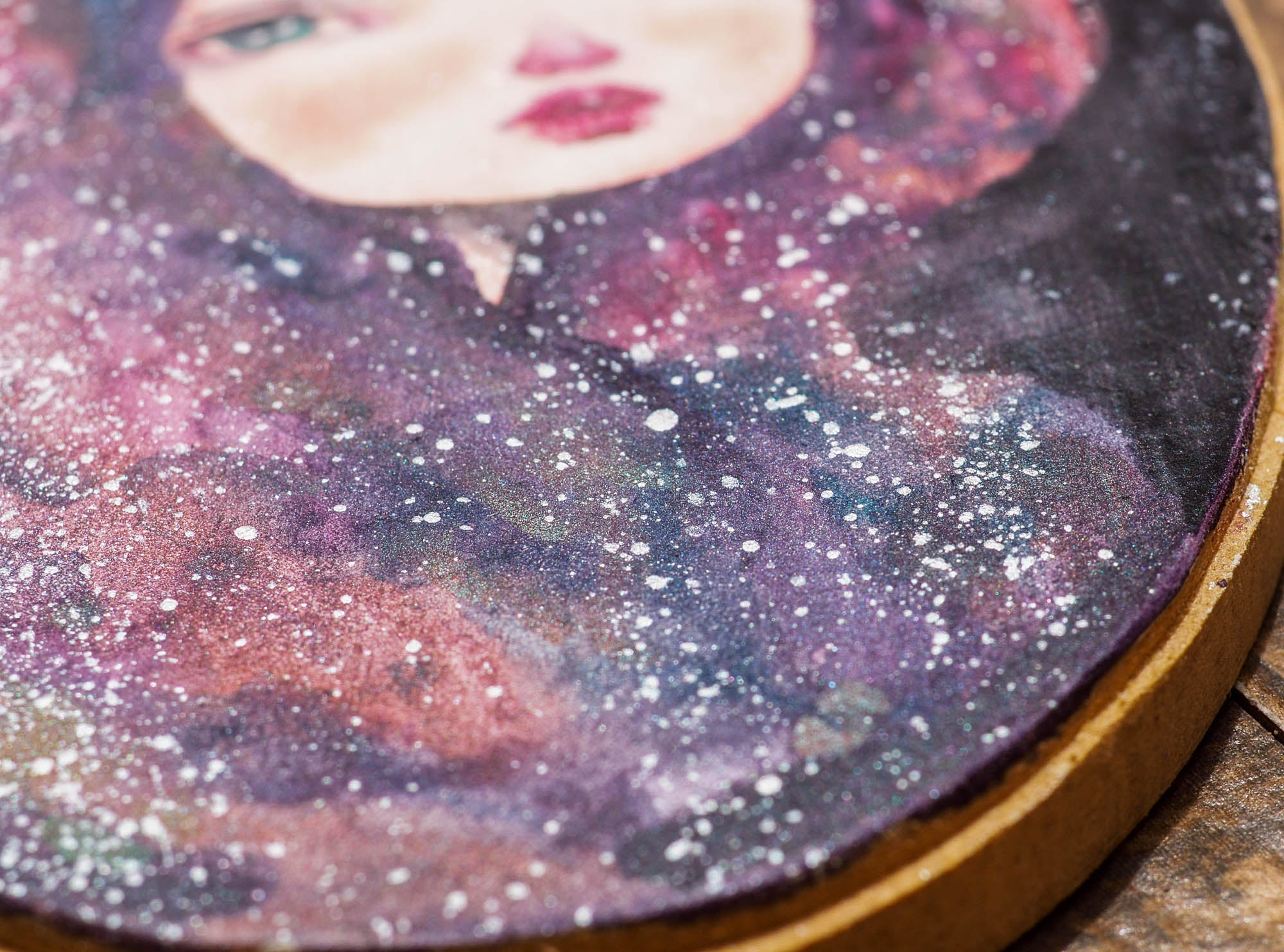 CASSIOPEIA - One of Danita's deep space inspired watercolor portraits, Original Art by Danita Art