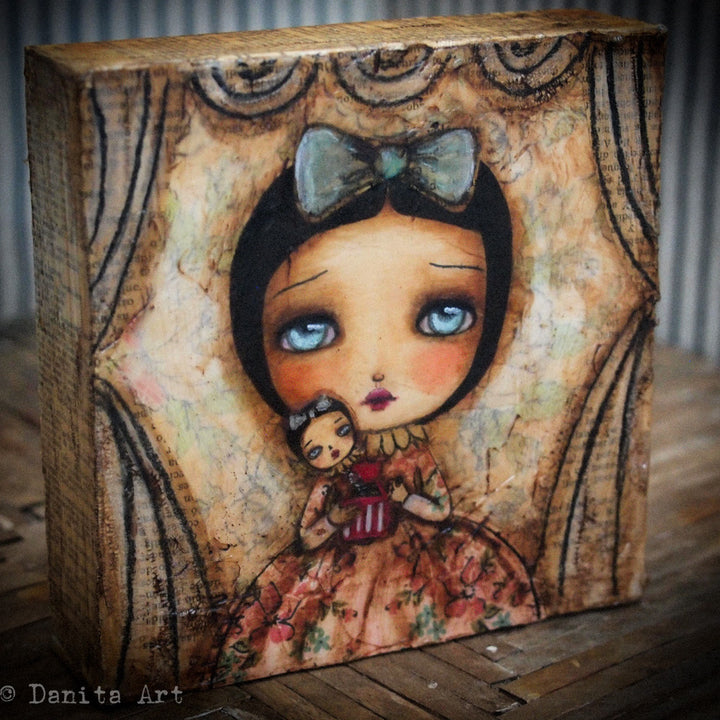Me In The Box - Original Painting, Original Art by Danita Art