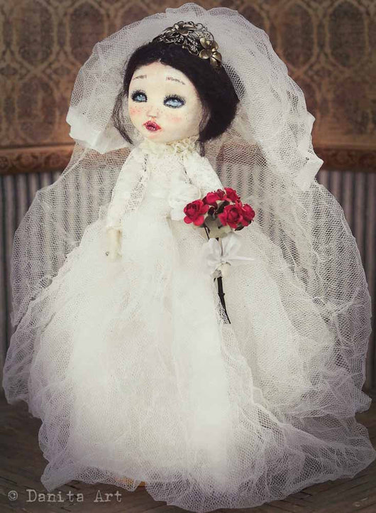Elizabeth, the bride art doll, Art Doll by Danita Art