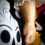 Danita herself casts the ceramic and resin hands and legs on her art dolls for a unique distressed look.
