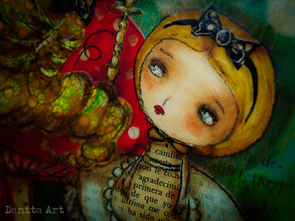 Alice and the caterpillar, Original Art by Danita Art