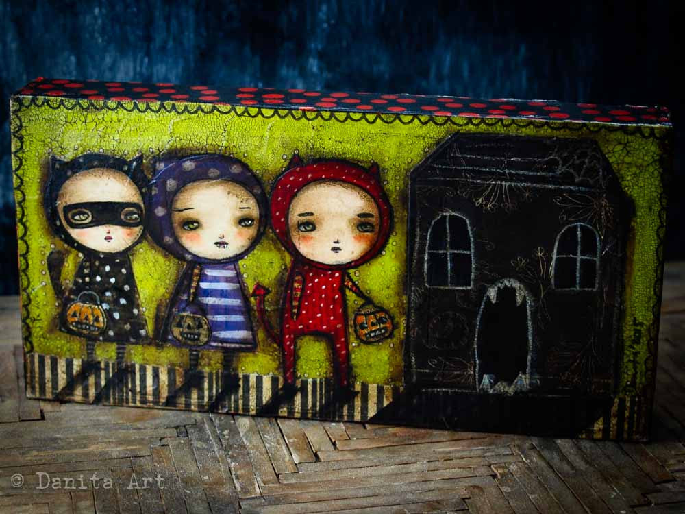 Monster House, Original Art by Danita Art
